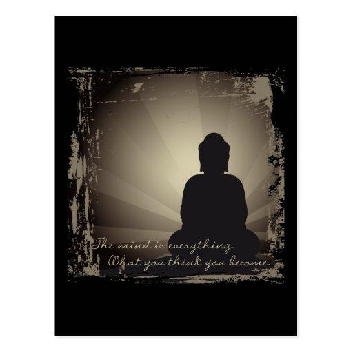 Buddha Mind Is Everything Postcard