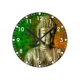 Buddha Mind Round Clock