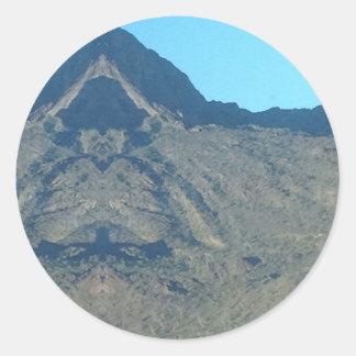 Buddha of the mountain classic round sticker