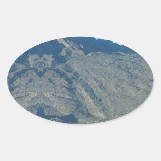 Buddha of the mountain oval sticker