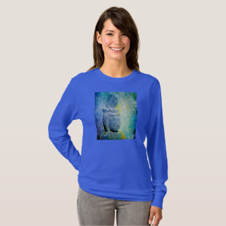 Buddha on blue T-Shirt