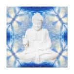 Buddha on fractal light canvas prints