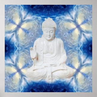 Buddha on fractal poster