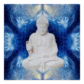 Buddha on fractal posters
