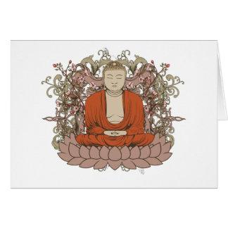 Buddha On Lotus Flower Card