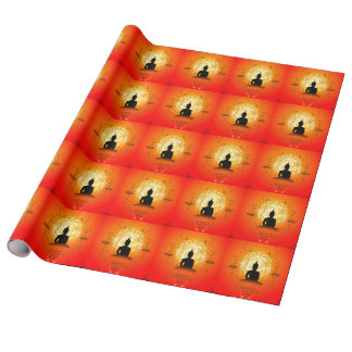 Buddha on mysical background wrapping paper