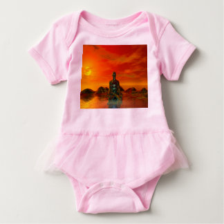 buddha orange and sea baby bodysuit