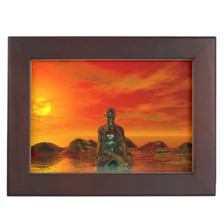 buddha orange and sea keepsake box