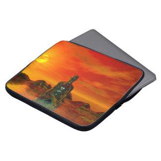 buddha orange and sea laptop sleeve