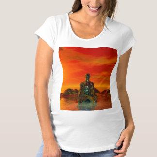 buddha orange and sea maternity T-Shirt
