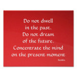 Buddha Past Present and Future Red Poster