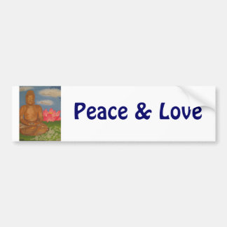 Buddha Peace & Love Bumper Sticker