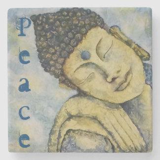 Buddha Peace Watercolor Art Stone Coaster