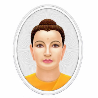 Buddha Photo Sculpture Badge