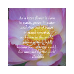 Buddha pink Lotus flower Stretched Canvas Print