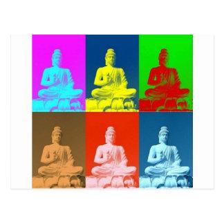Buddha Pop Art Style Postcard