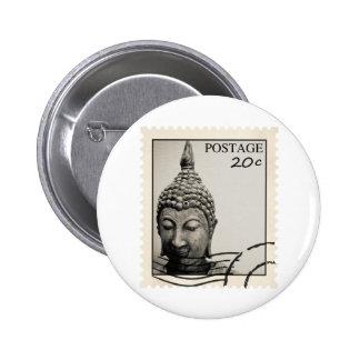 Buddha Postage Stamp Design Button