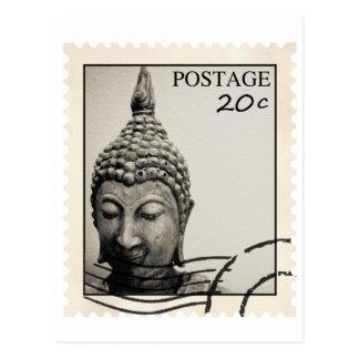 Buddha Postage Stamp Design Postcard