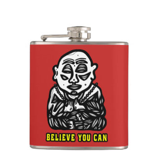 """Buddha Pray"" 631 Art Flask"