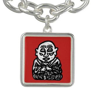 """Buddha Pray"" Square Charm Bracelet"
