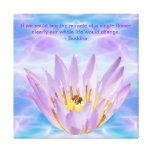 Buddha purple Lotus flower Stretched Canvas Print