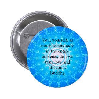 Buddha  QUOTATION Buddhist Spiritual Quotes 6 Cm Round Badge