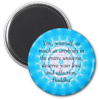 Buddha  QUOTATION Buddhist Spiritual Quotes 6 Cm Round Magnet