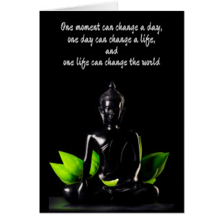 Buddha Quote 2 customizable greeting card