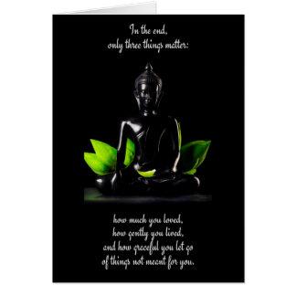 Buddha Quote 3 customizable greeting card