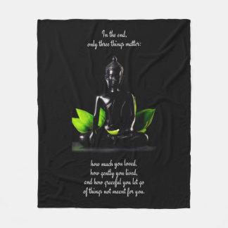 Buddha Quote 3 fleece blanket