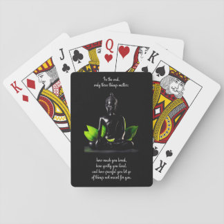 Buddha Quote 3 playing cards