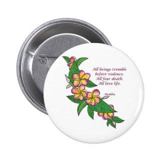 Buddha Quote Pins