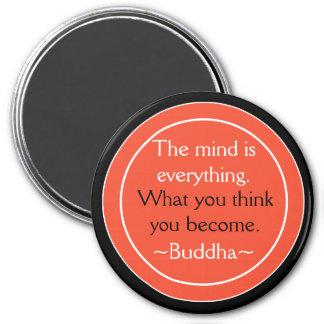 Buddha Quote Black Orange Inspirational Magnet