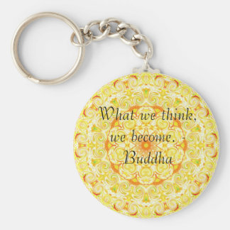 Buddha quote inspire motivational basic round button key ring