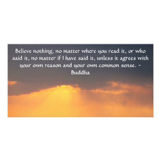 Buddha quote inspire motivational customised photo card