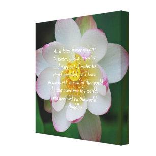 Lotus flower quote art wall dcor zazzle buddha quote lotus flower canvas print mightylinksfo