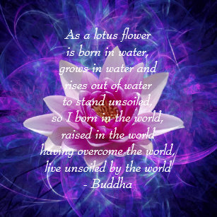 Lotus flower quote home furnishings accessories zazzle buddha quote lotus flower cushion mightylinksfo