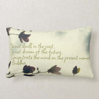 Buddha quote on the past lumbar cushion