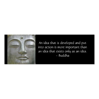 Buddha Quote Profile Card Business Card Template