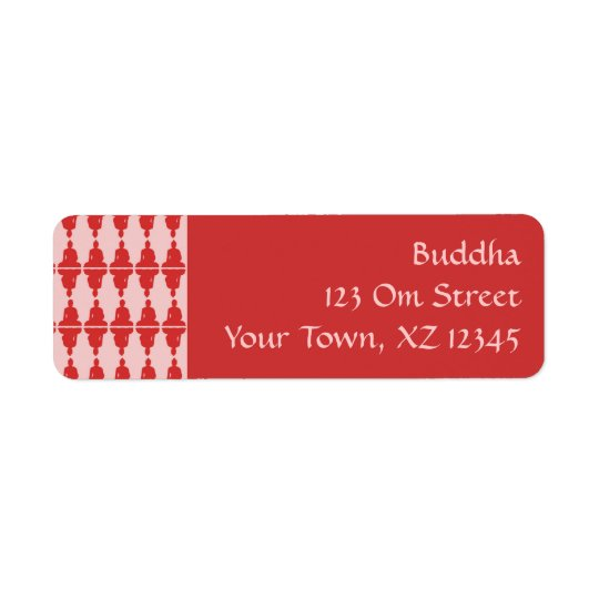 Buddha Return Address Label