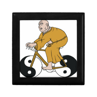 Buddha Riding A Bike With Yin Yang Wheels Gift Box