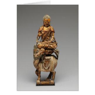 Buddha Shakyamuni with attendant bodhisattvas Card
