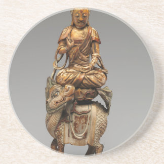 Buddha Shakyamuni with attendant bodhisattvas Coaster