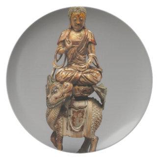 Buddha Shakyamuni with attendant bodhisattvas Plate