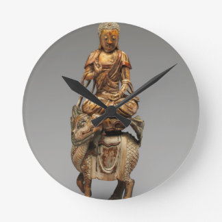 Buddha Shakyamuni with attendant bodhisattvas Round Clock