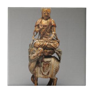 Buddha Shakyamuni with attendant bodhisattvas Tile
