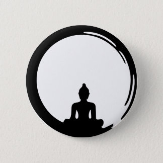 Buddha silent 6 cm round badge