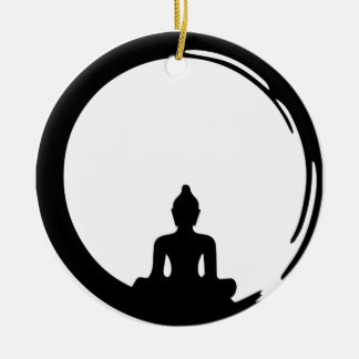 Buddha silent ceramic ornament