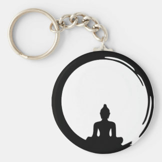 Buddha silent key ring