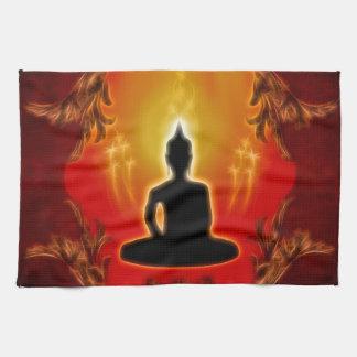 Buddha silhouette tea towel